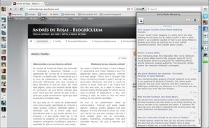 Rockmelt RSS Reader