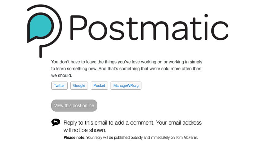 postmatic comentarios para wordpress